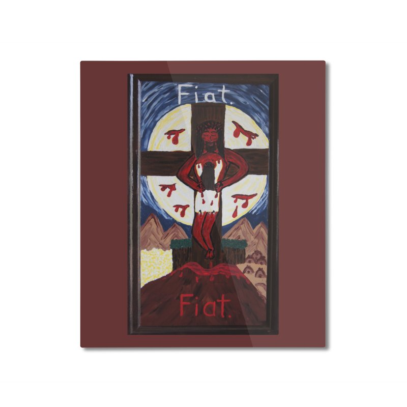 Indwelling Eucharistic Love Home Mounted Aluminum Print by Mary Kloska Fiat's Artist Shop
