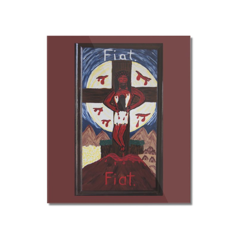 Indwelling Eucharistic Love Home Mounted Acrylic Print by Mary Kloska Fiat's Artist Shop