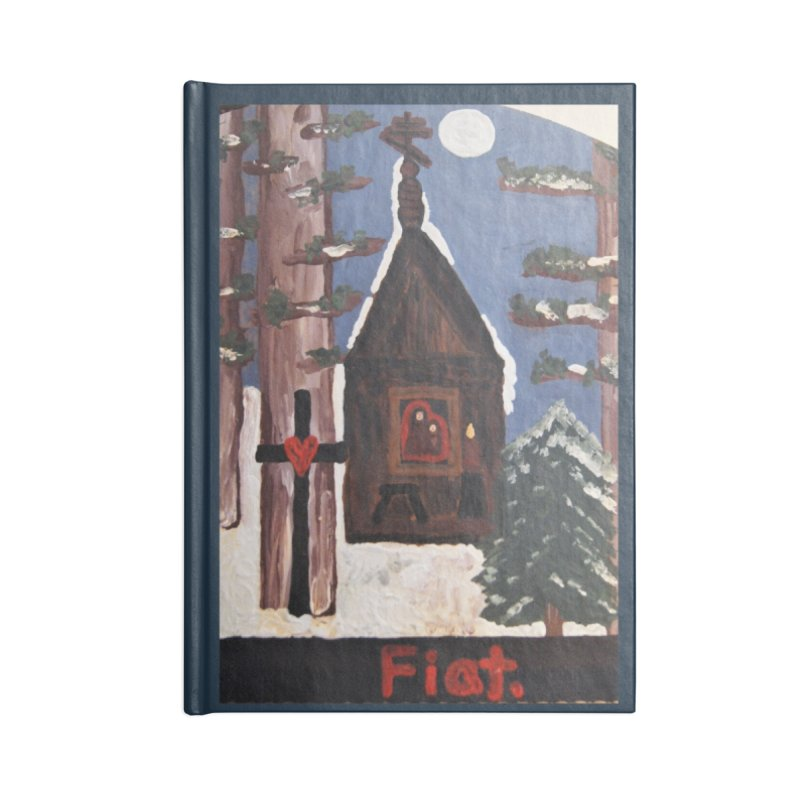 Russian Chapel in a Snowy Wood Accessories Notebook by Mary Kloska Fiat's Artist Shop