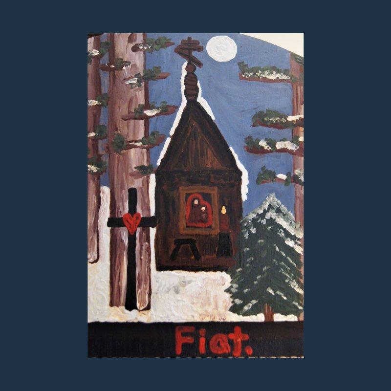 Russian Chapel in a Snowy Wood Home Fine Art Print by Mary Kloska Fiat's Artist Shop
