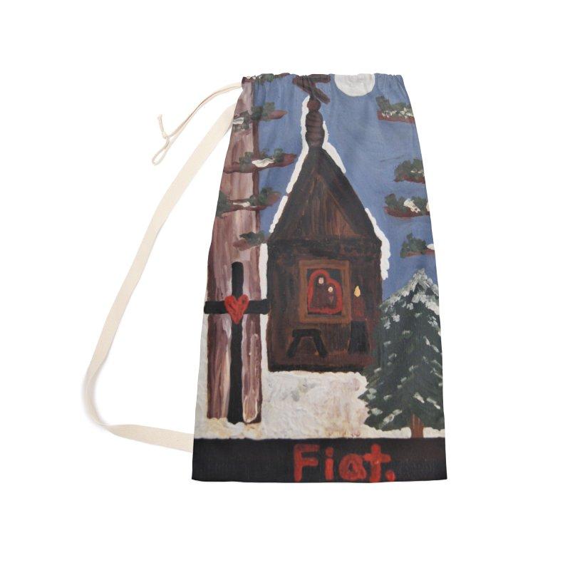 Russian Chapel in a Snowy Wood Accessories Bag by Mary Kloska Fiat's Artist Shop