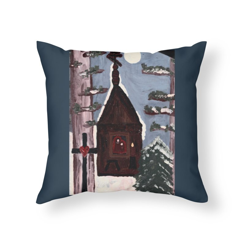 Russian Chapel in a Snowy Wood Home Throw Pillow by Mary Kloska Fiat's Artist Shop