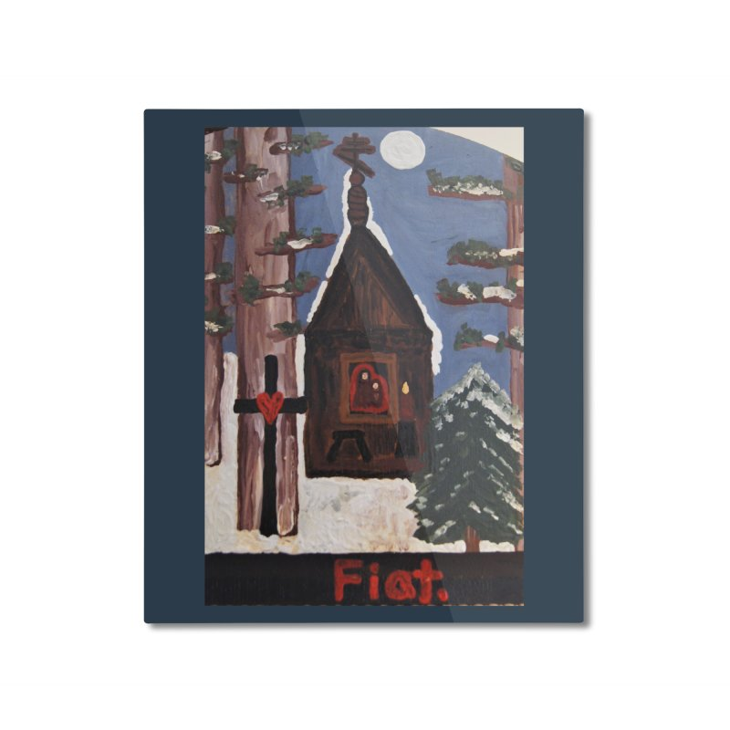 Russian Chapel in a Snowy Wood Home Mounted Aluminum Print by Mary Kloska Fiat's Artist Shop