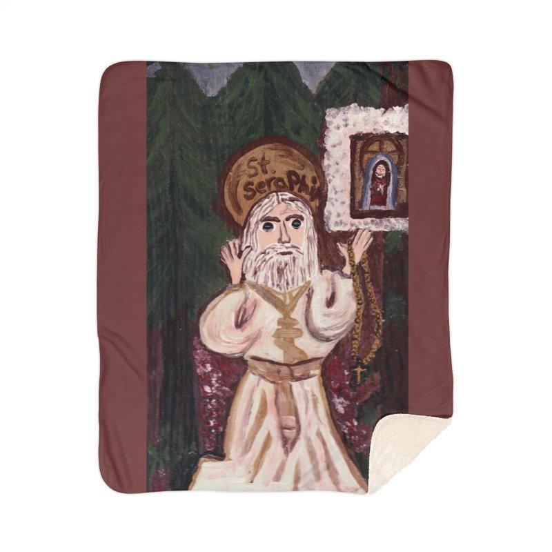 St. Seraphim of Sarov Home Blanket by Mary Kloska Fiat's Artist Shop