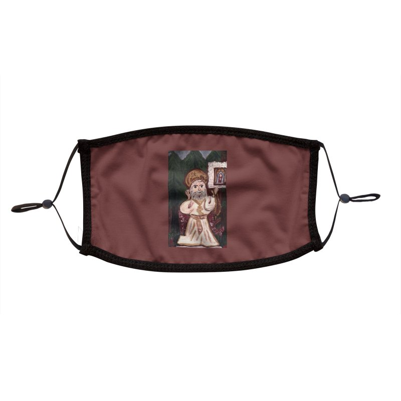 St. Seraphim of Sarov Accessories Face Mask by Mary Kloska Fiat's Artist Shop