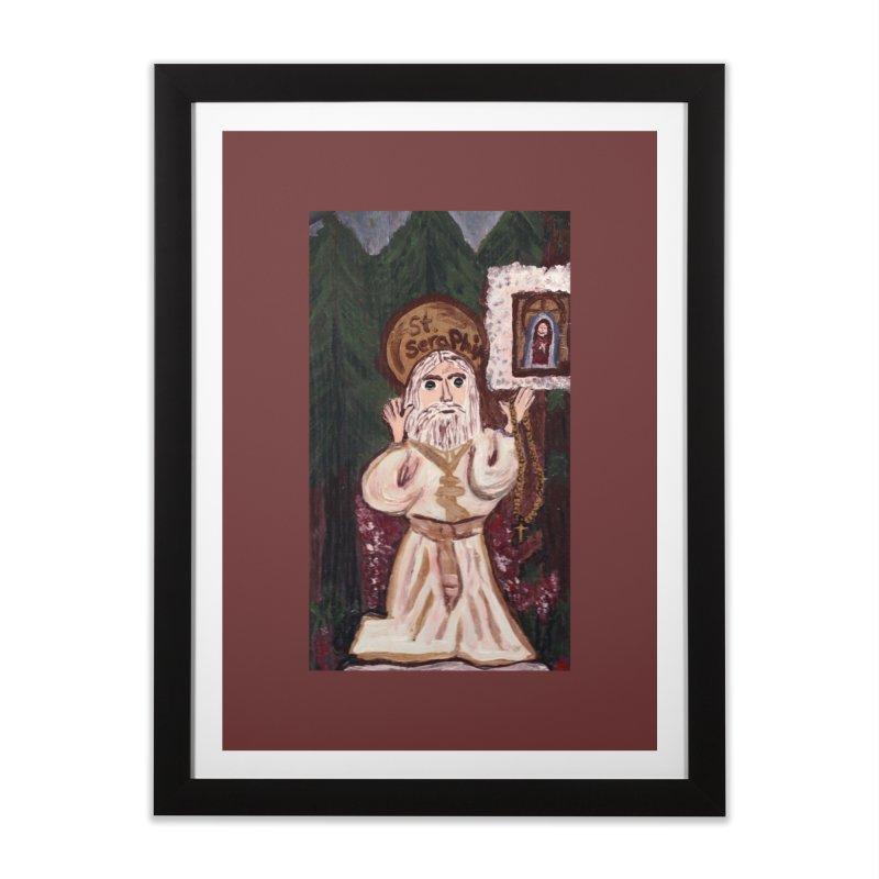 St. Seraphim of Sarov Home Framed Fine Art Print by Mary Kloska Fiat's Artist Shop