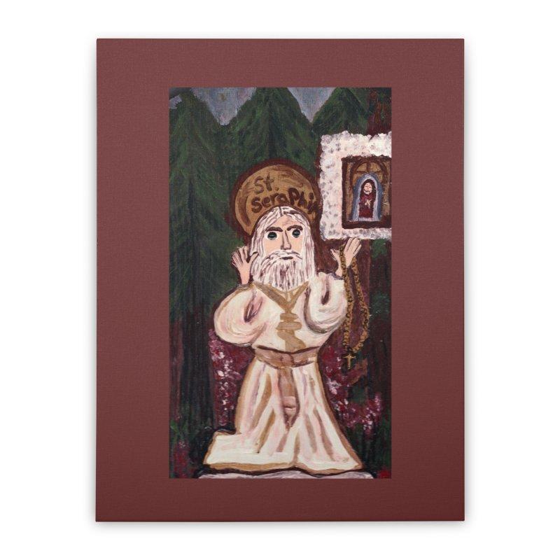 St. Seraphim of Sarov Home Stretched Canvas by Mary Kloska Fiat's Artist Shop