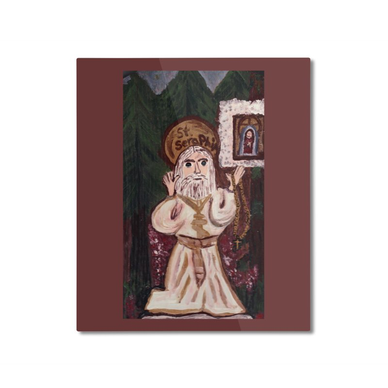 St. Seraphim of Sarov Home Mounted Aluminum Print by Mary Kloska Fiat's Artist Shop