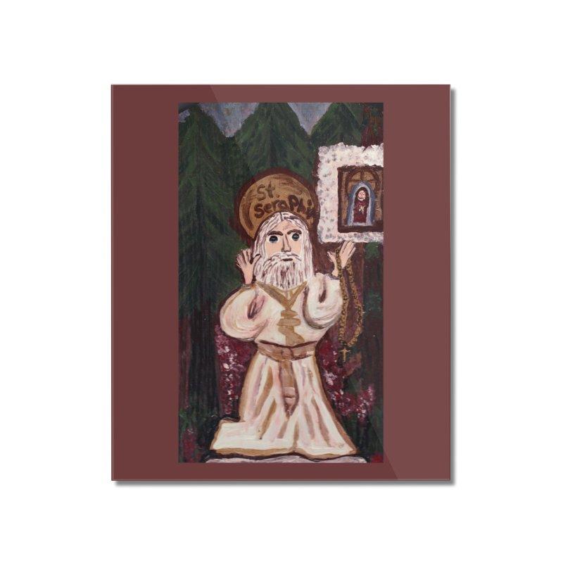 St. Seraphim of Sarov Home Mounted Acrylic Print by Mary Kloska Fiat's Artist Shop
