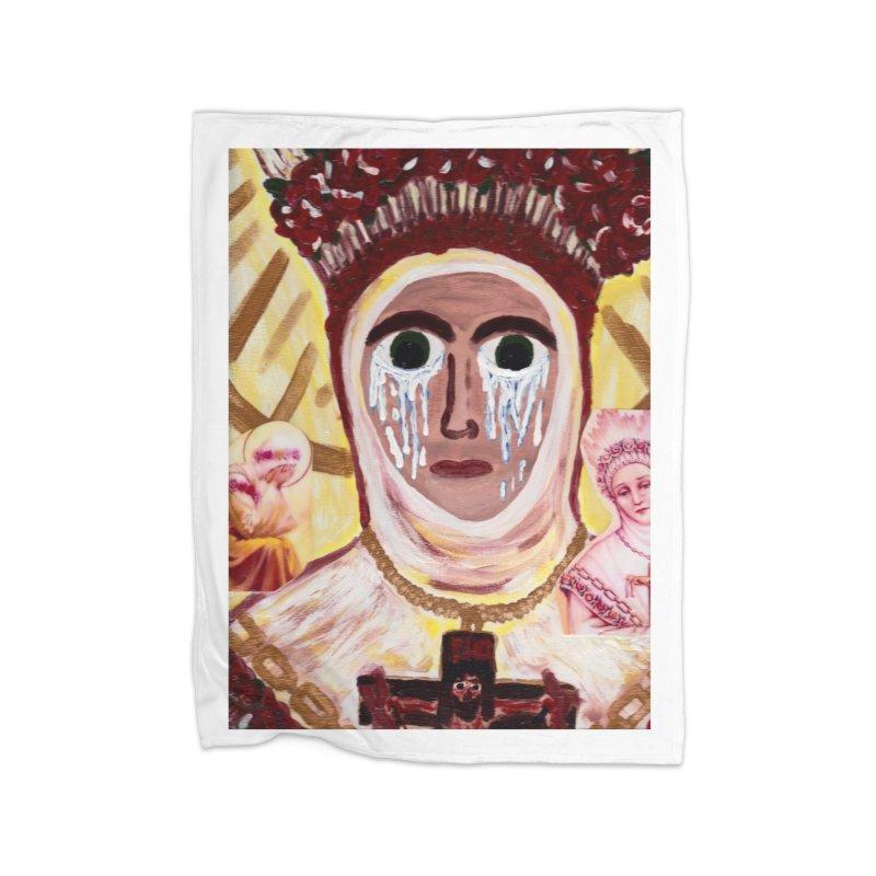 Our Lady of La Salette Home Blanket by Mary Kloska Fiat's Artist Shop