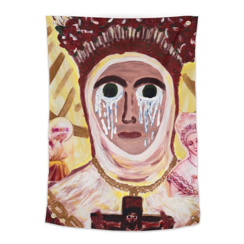 Our Lady of La Salette Home Tapestry by Mary Kloska Fiat's Artist Shop