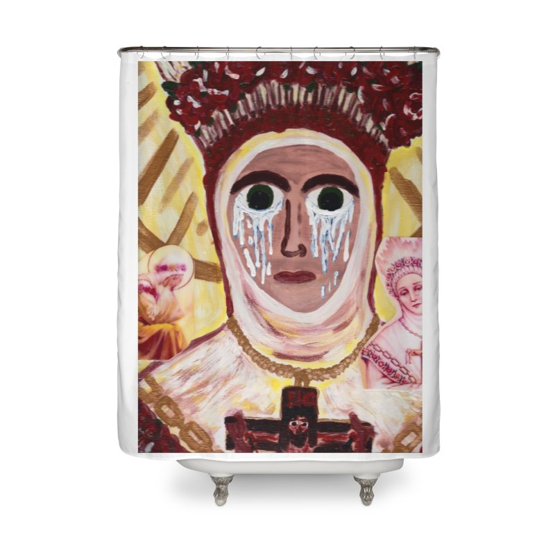 Our Lady of La Salette Home Shower Curtain by Mary Kloska Fiat's Artist Shop