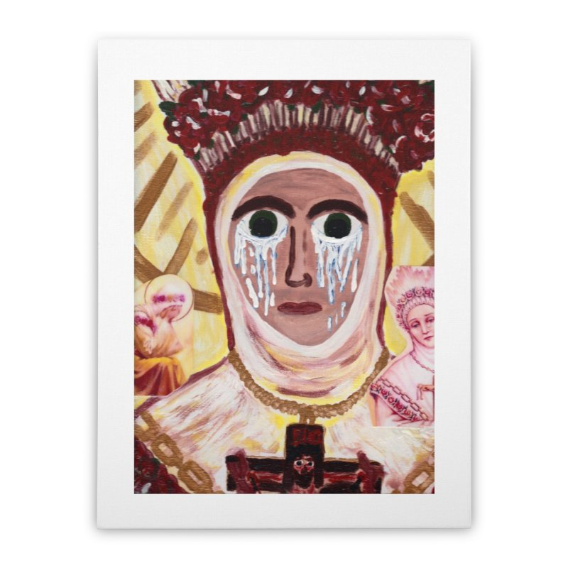 Our Lady of La Salette Home Stretched Canvas by Mary Kloska Fiat's Artist Shop