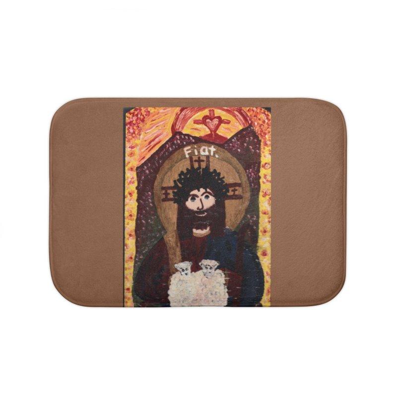 Jesus, The Good Shepherd Home Bath Mat by Mary Kloska Fiat's Artist Shop