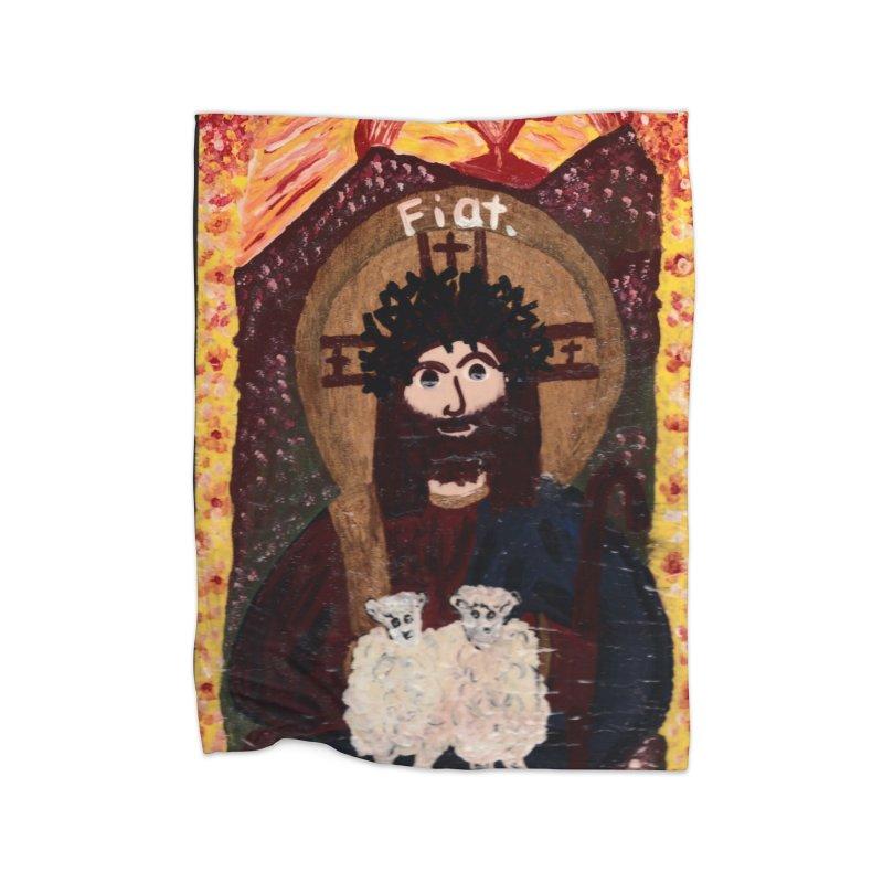 Jesus, The Good Shepherd Home Blanket by Mary Kloska Fiat's Artist Shop