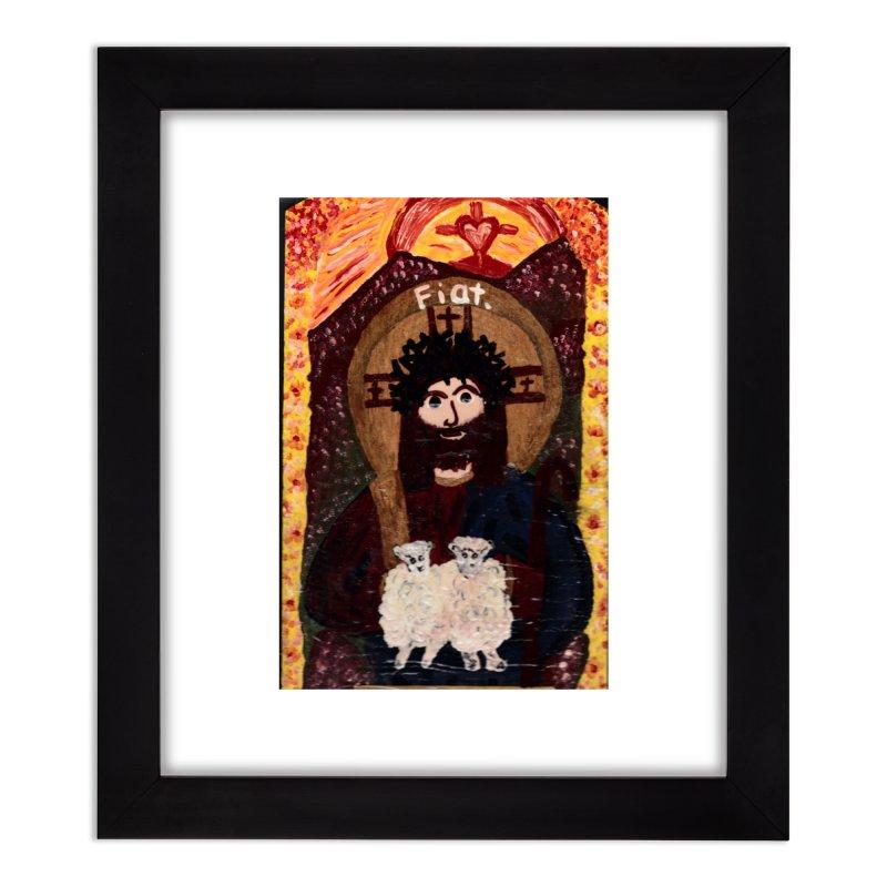 Jesus, The Good Shepherd Home Framed Fine Art Print by Mary Kloska Fiat's Artist Shop