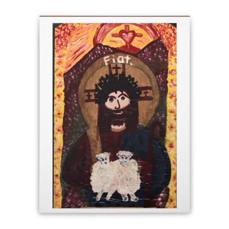 Jesus, The Good Shepherd Home Stretched Canvas by Mary Kloska Fiat's Artist Shop