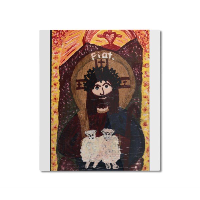 Jesus, The Good Shepherd Home Mounted Aluminum Print by Mary Kloska Fiat's Artist Shop