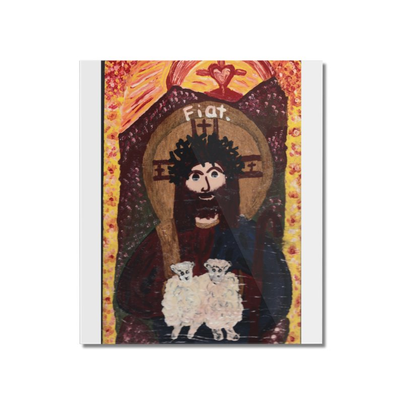 Jesus, The Good Shepherd Home Mounted Acrylic Print by Mary Kloska Fiat's Artist Shop