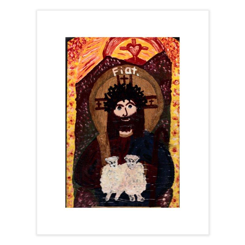 Jesus, The Good Shepherd Home Fine Art Print by Mary Kloska Fiat's Artist Shop