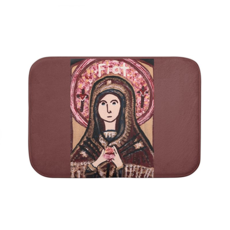 Our Lady of Sorrows Home Bath Mat by Mary Kloska Fiat's Artist Shop