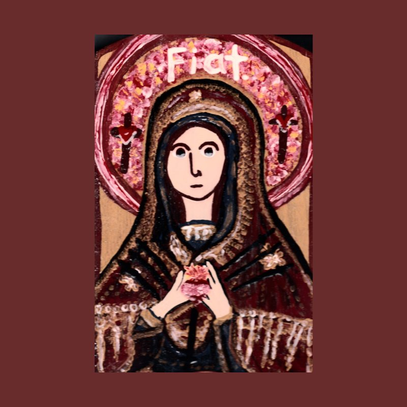 Our Lady of Sorrows Home Shower Curtain by Mary Kloska Fiat's Artist Shop