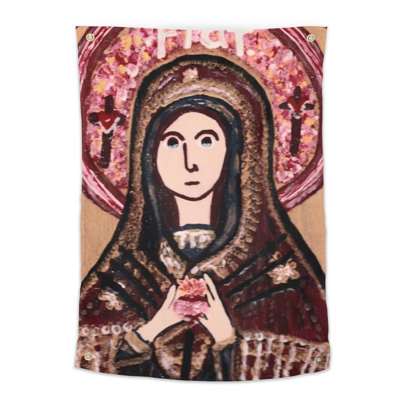 Our Lady of Sorrows Home Tapestry by Mary Kloska Fiat's Artist Shop
