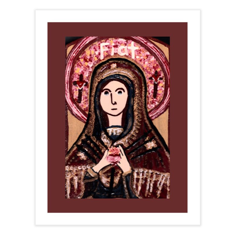 Our Lady of Sorrows Home Fine Art Print by Mary Kloska Fiat's Artist Shop