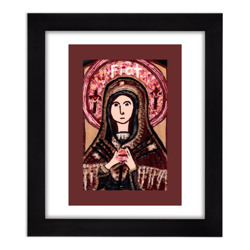 Our Lady of Sorrows Home Framed Fine Art Print by Mary Kloska Fiat's Artist Shop