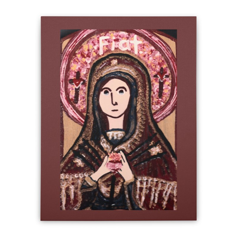 Our Lady of Sorrows Home Stretched Canvas by Mary Kloska Fiat's Artist Shop