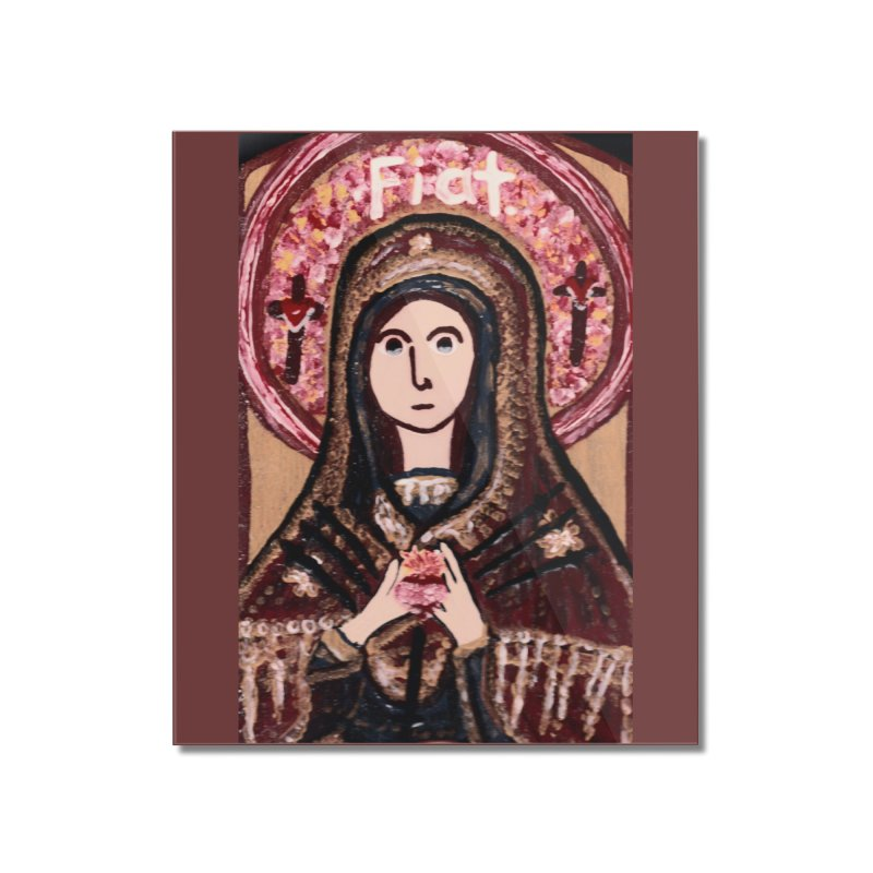Our Lady of Sorrows Home Mounted Acrylic Print by Mary Kloska Fiat's Artist Shop