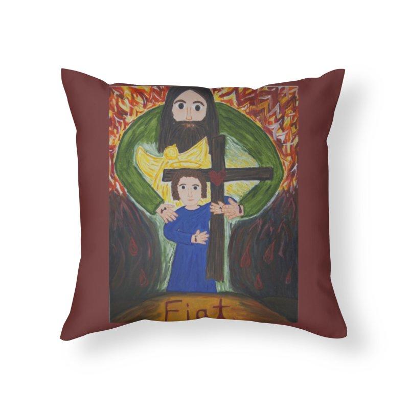 Trinity Home Throw Pillow by Mary Kloska Fiat's Artist Shop