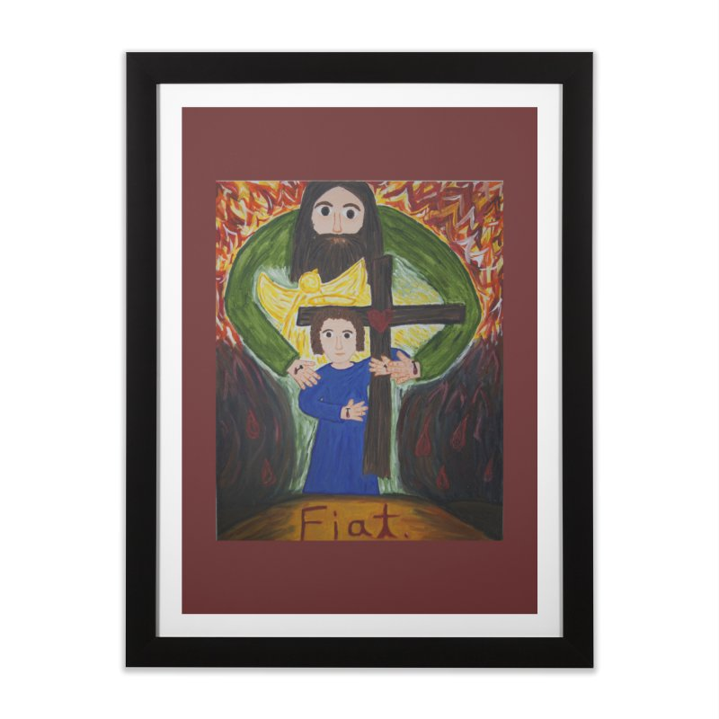 Trinity Home Framed Fine Art Print by Mary Kloska Fiat's Artist Shop