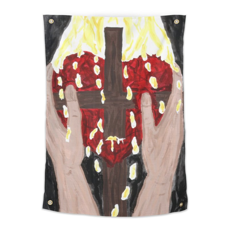 Daily Offering Home Tapestry by Mary Kloska Fiat's Artist Shop
