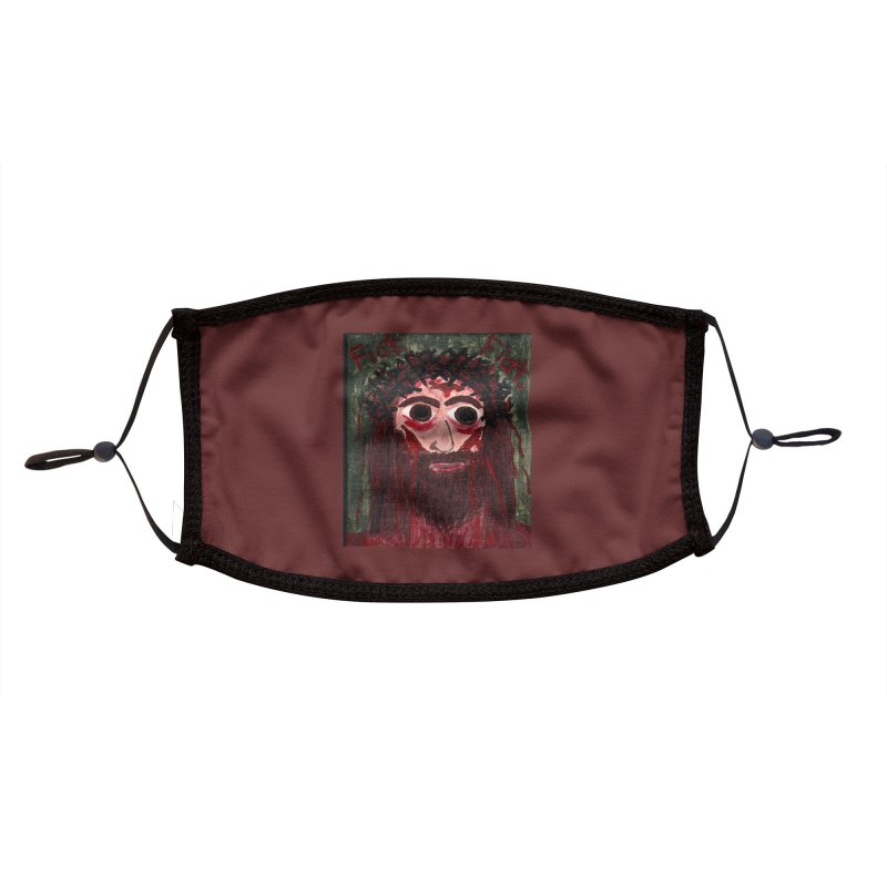 Face of Jesus Accessories Face Mask by Mary Kloska Fiat's Artist Shop