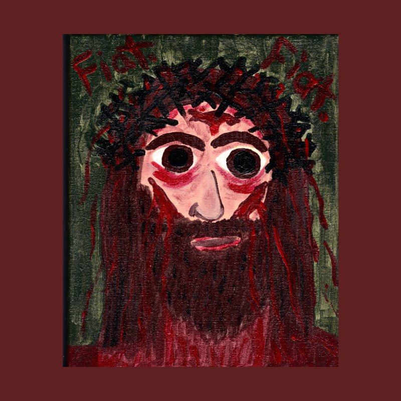 Face of Jesus Home Mounted Aluminum Print by Mary Kloska Fiat's Artist Shop
