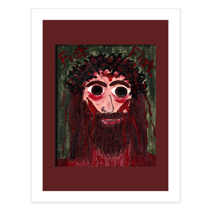 Face of Jesus Home Fine Art Print by Mary Kloska Fiat's Artist Shop