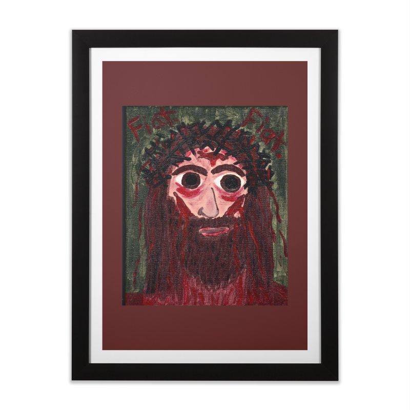 Face of Jesus Home Framed Fine Art Print by Mary Kloska Fiat's Artist Shop