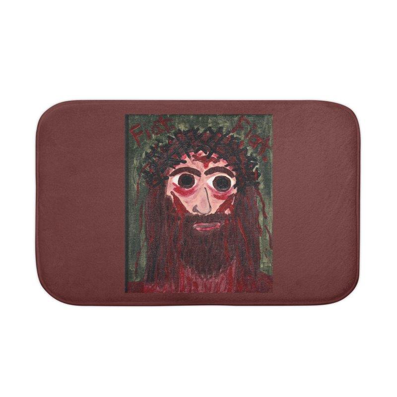 Face of Jesus Home Bath Mat by Mary Kloska Fiat's Artist Shop