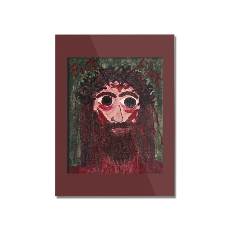 Face of Jesus Home Mounted Acrylic Print by Mary Kloska Fiat's Artist Shop
