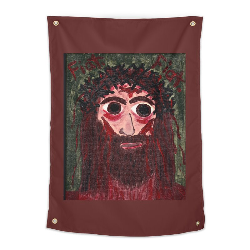 Face of Jesus Home Tapestry by Mary Kloska Fiat's Artist Shop