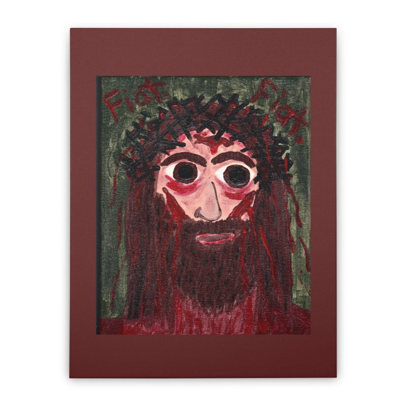 Face of Jesus Home Stretched Canvas by Mary Kloska Fiat's Artist Shop