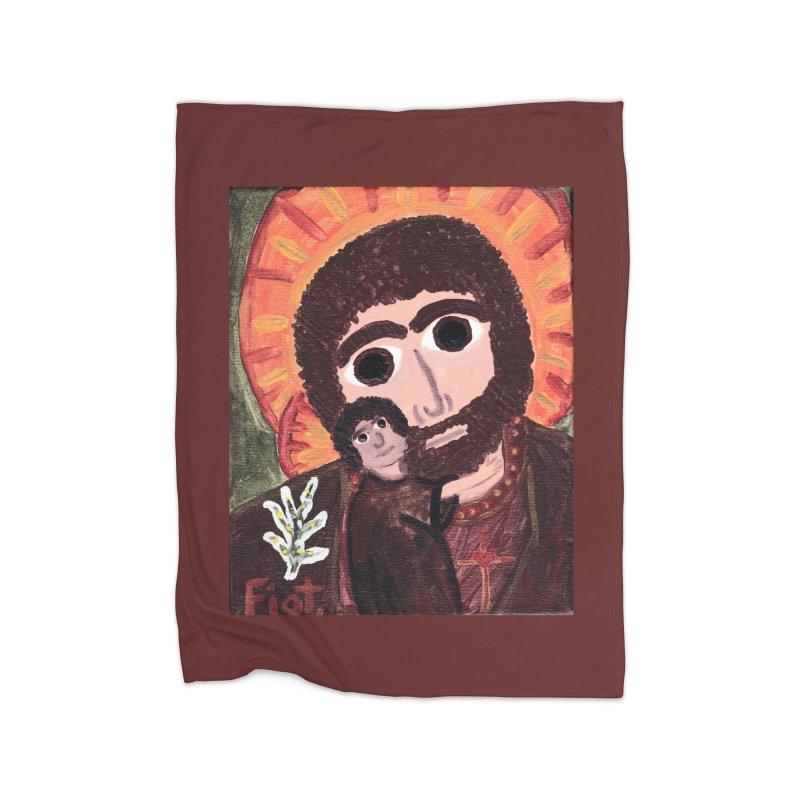 St. Joseph -II Home Blanket by Mary Kloska Fiat's Artist Shop