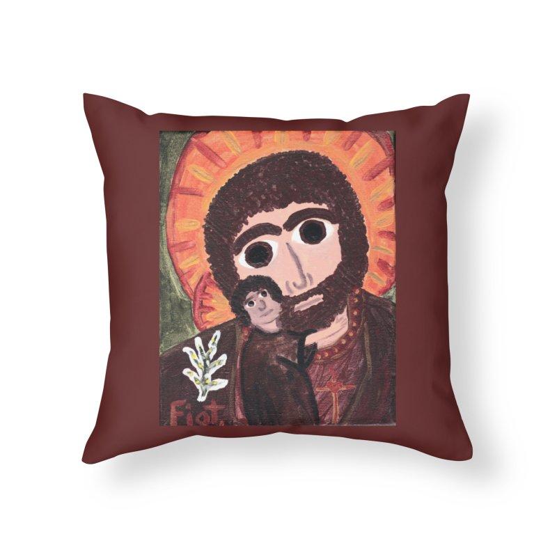 St. Joseph -II Home Throw Pillow by Mary Kloska Fiat's Artist Shop