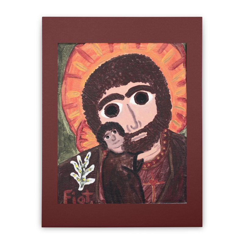 St. Joseph -II Home Stretched Canvas by Mary Kloska Fiat's Artist Shop
