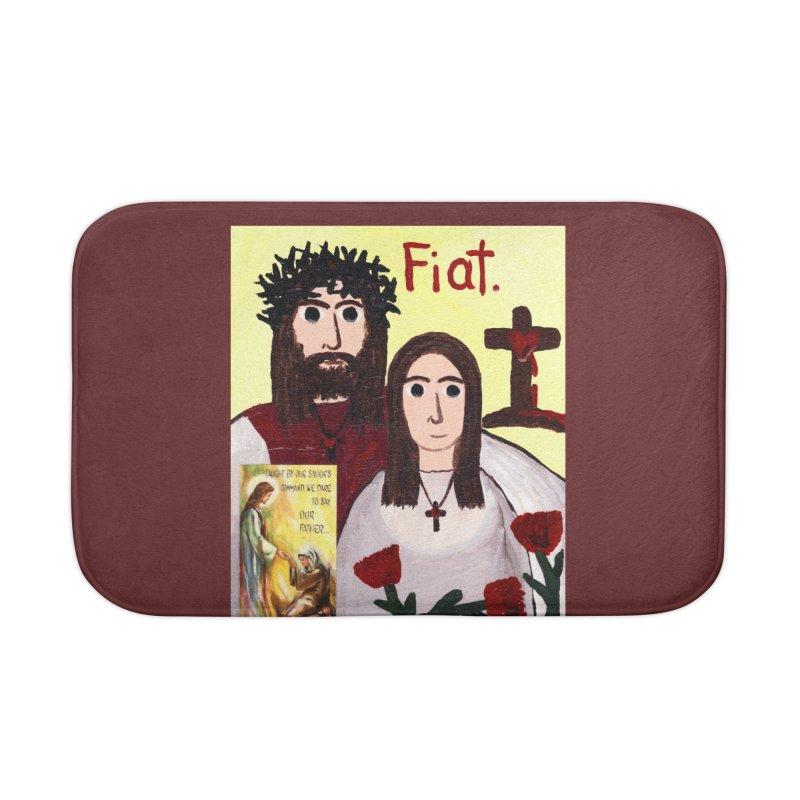 Jesus with 'Mary' Home Bath Mat by Mary Kloska Fiat's Artist Shop