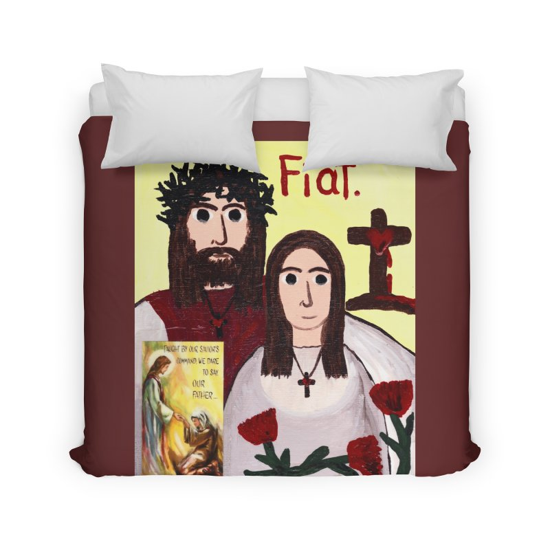 Jesus with 'Mary' Home Duvet by Mary Kloska Fiat's Artist Shop