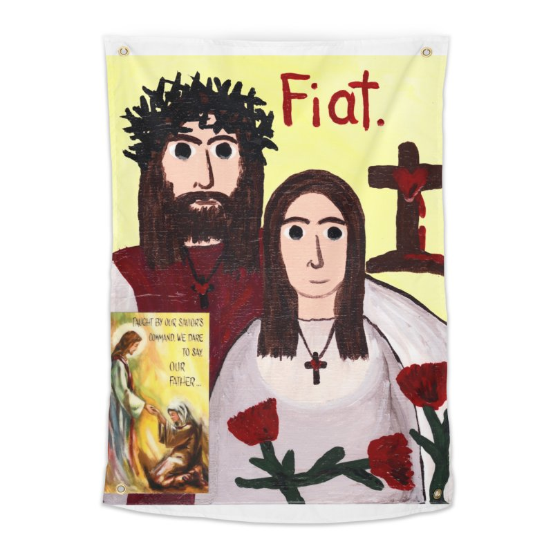 Jesus with 'Mary' Home Tapestry by Mary Kloska Fiat's Artist Shop