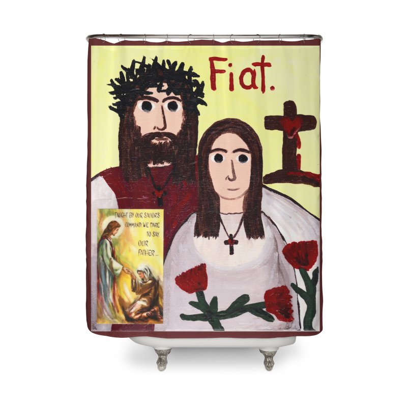 Jesus with 'Mary' Home Shower Curtain by Mary Kloska Fiat's Artist Shop