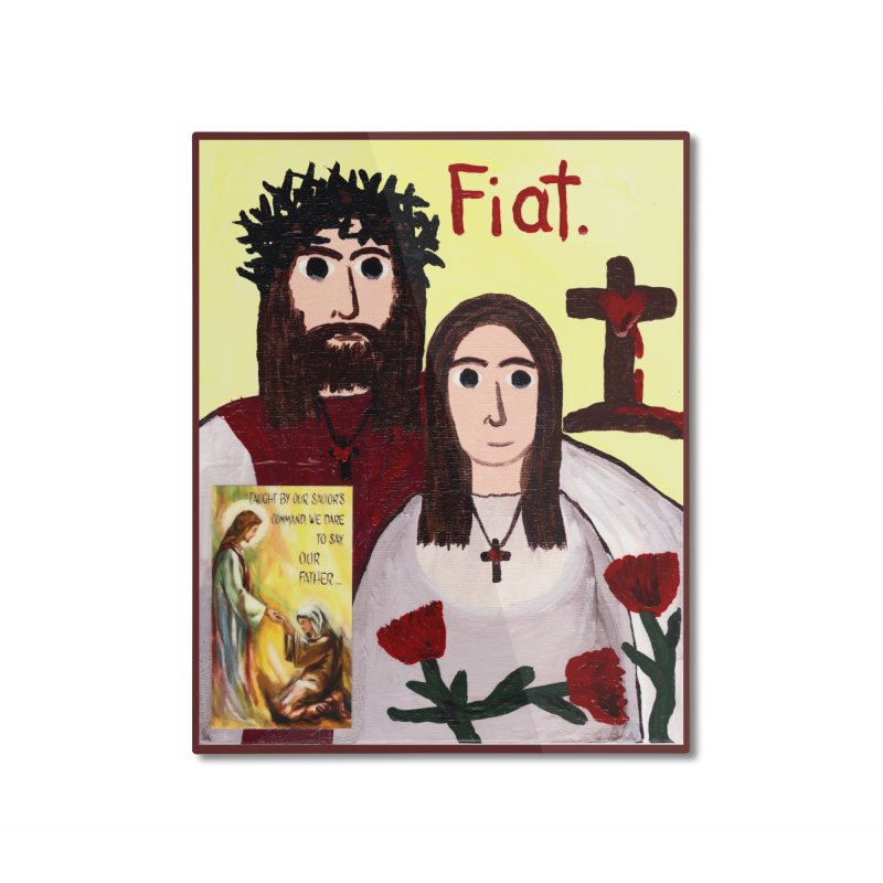 Jesus with 'Mary' Home Mounted Aluminum Print by Mary Kloska Fiat's Artist Shop